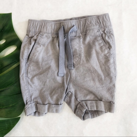 Old Navy Grey Cuffed Shorts Size 18-24 Months